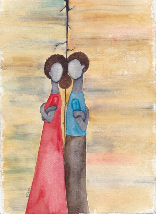 'Coexisting' Original Watercolor Art - Image 0