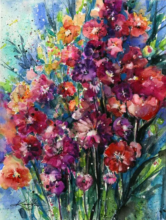 Floral Jubilee - Flower Watercolor Painting - Image 0