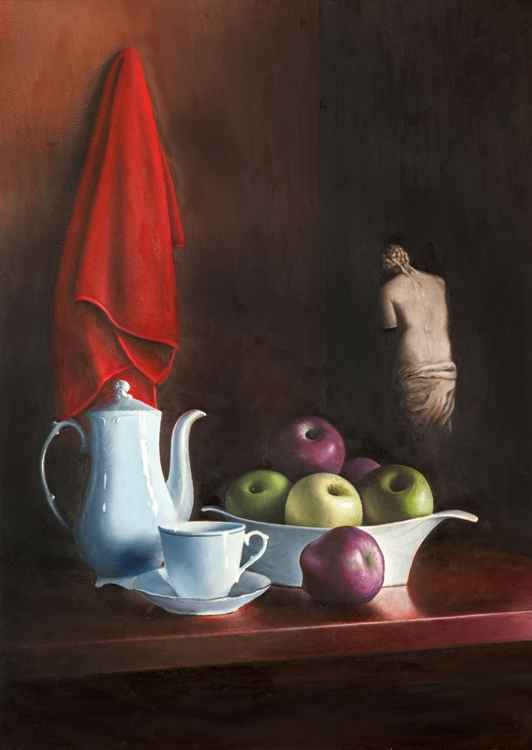 Still life with Statue -