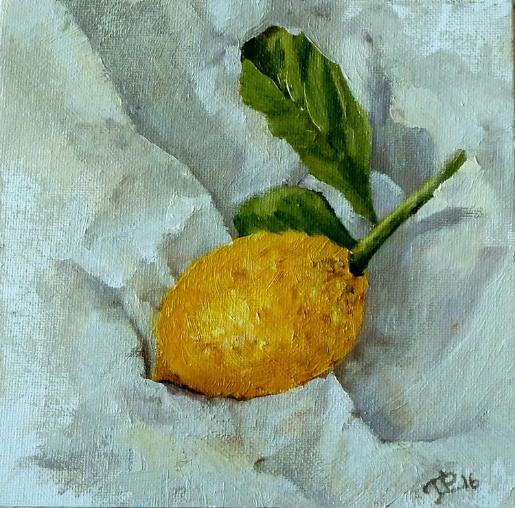 Lemon on paper - Image 0