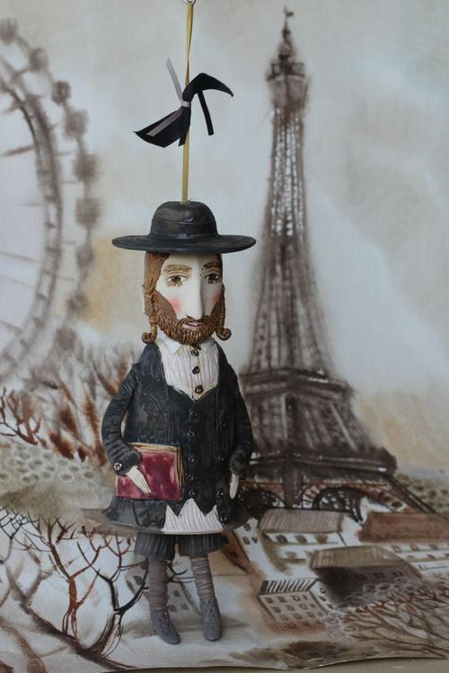 Young talmudist in Paris, by Elya Yalonetski - Image 0