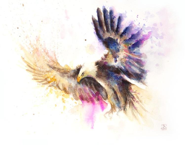 Flying eagle - Image 0