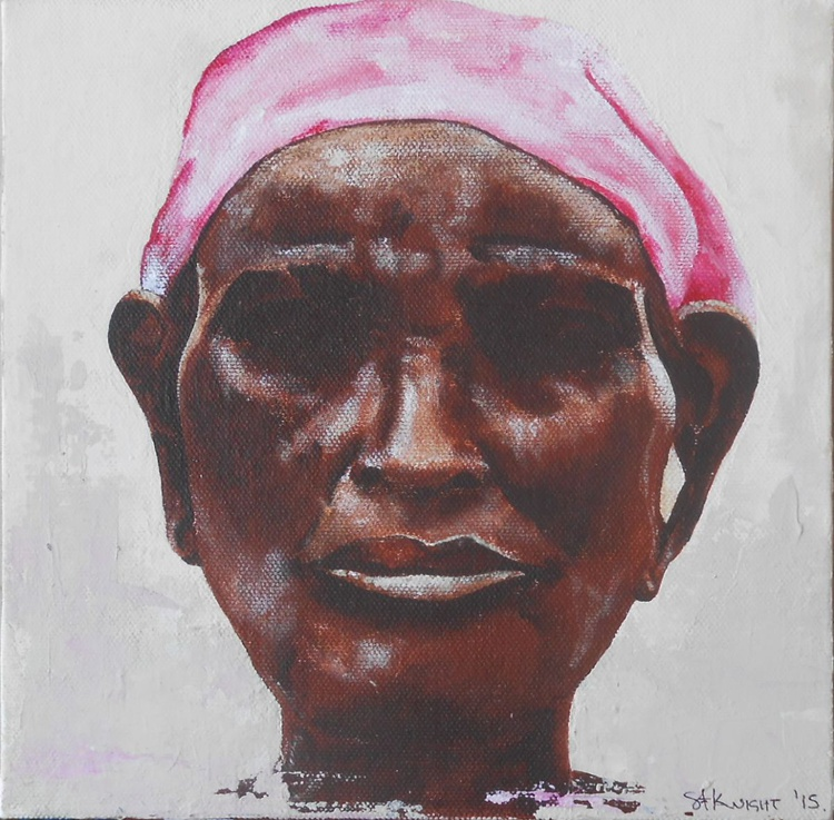 African Woman in Pink - Image 0