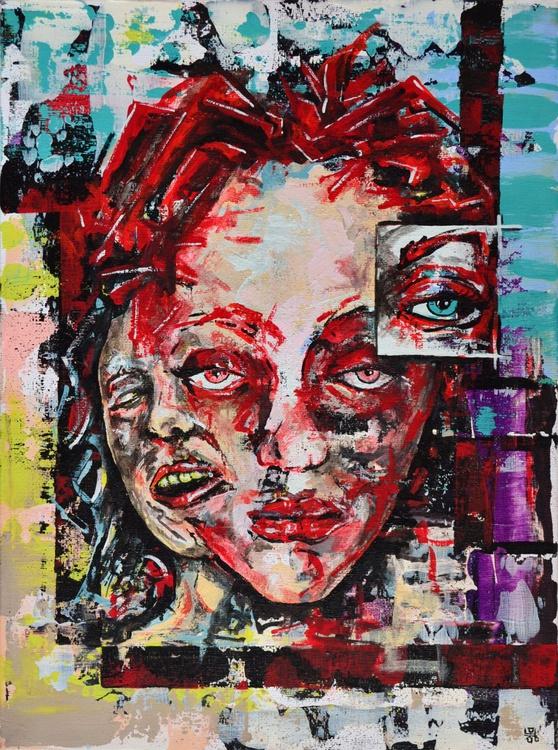 Melancholy - Original Acrylic Painting on Canvas - Image 0