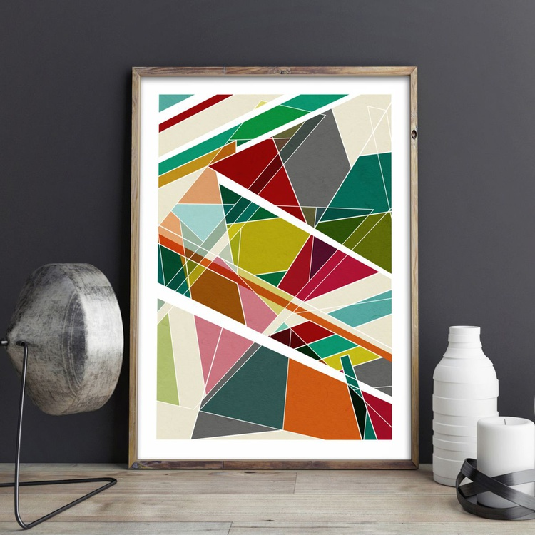 Reflections No.4 Abstract Geometric Limited Edition Prints - Image 0