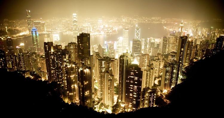 Hong Kong at night. - Image 0