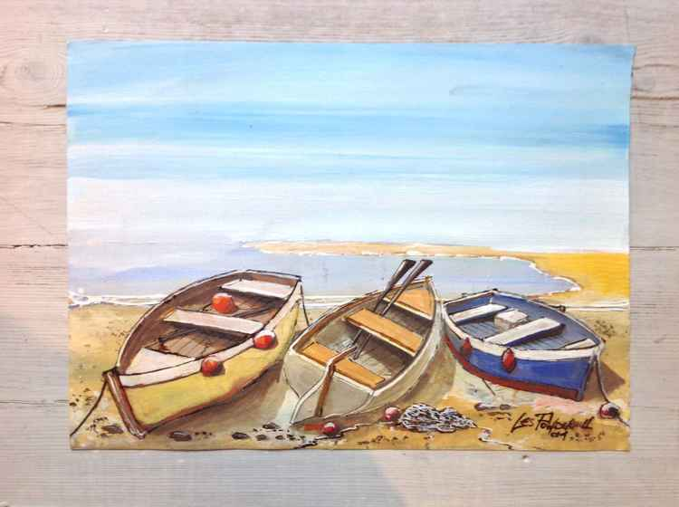 Boats on a beach wish I was there! -