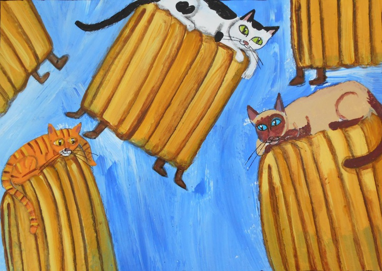 Remembering Special Needs Cats I've Been Owned By Acrylic Painting - Image 0