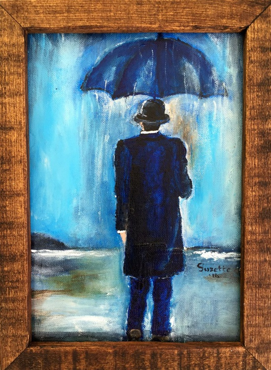 A man in the storm - Image 0