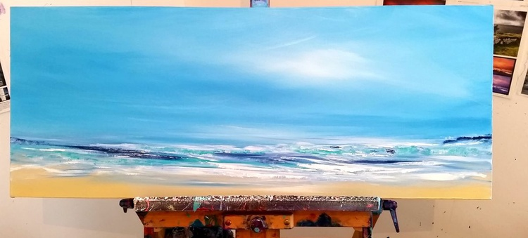 Spirit of Surf - Great gift for Beach Lovers, Modern Art Office Decor Home - Image 0