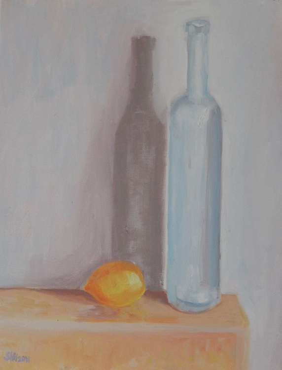 Tall Bottle With Lemon - Image 0