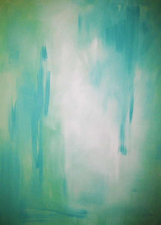 Abstract in Aqua - Image 0