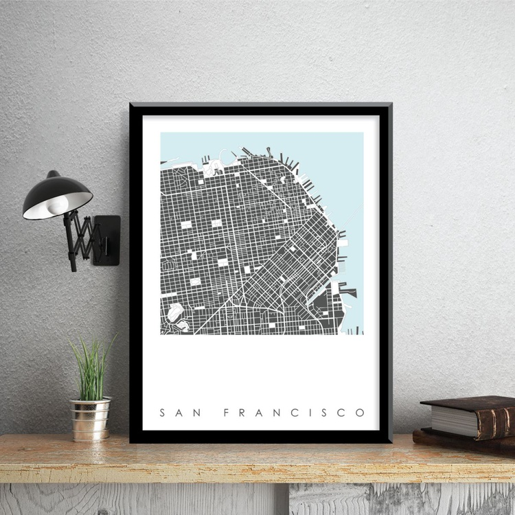 San Francisco Map Art - Limited Edition Print - Image 0