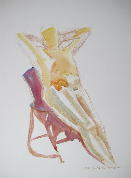 reclining male nude - Image 0