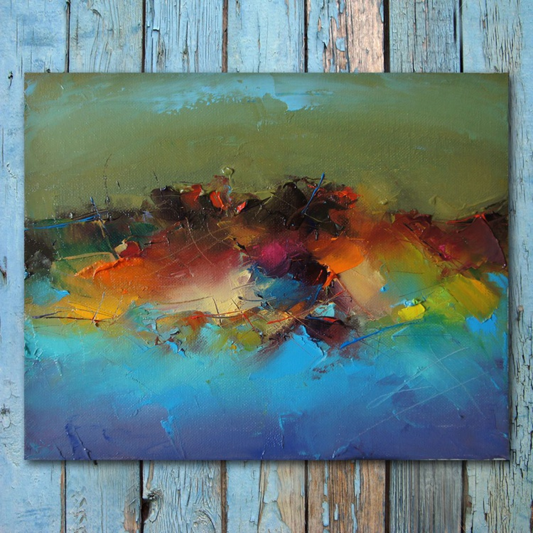 """""""Colors"""" Abstract oil Painting, free shipping - Image 0"""