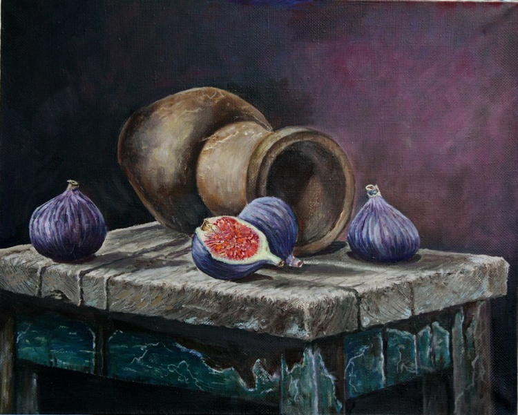 Pitcher and figs - Image 0