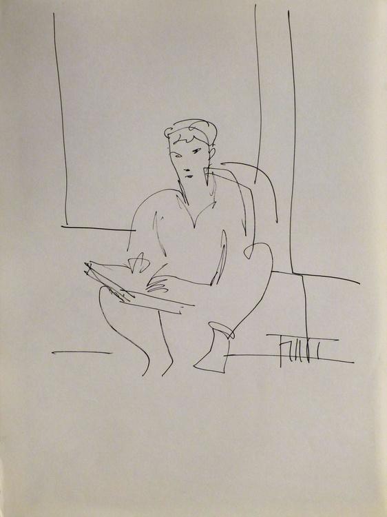 Self-portrais, Passage Charles-Albert, #13 24x32 cm - Image 0