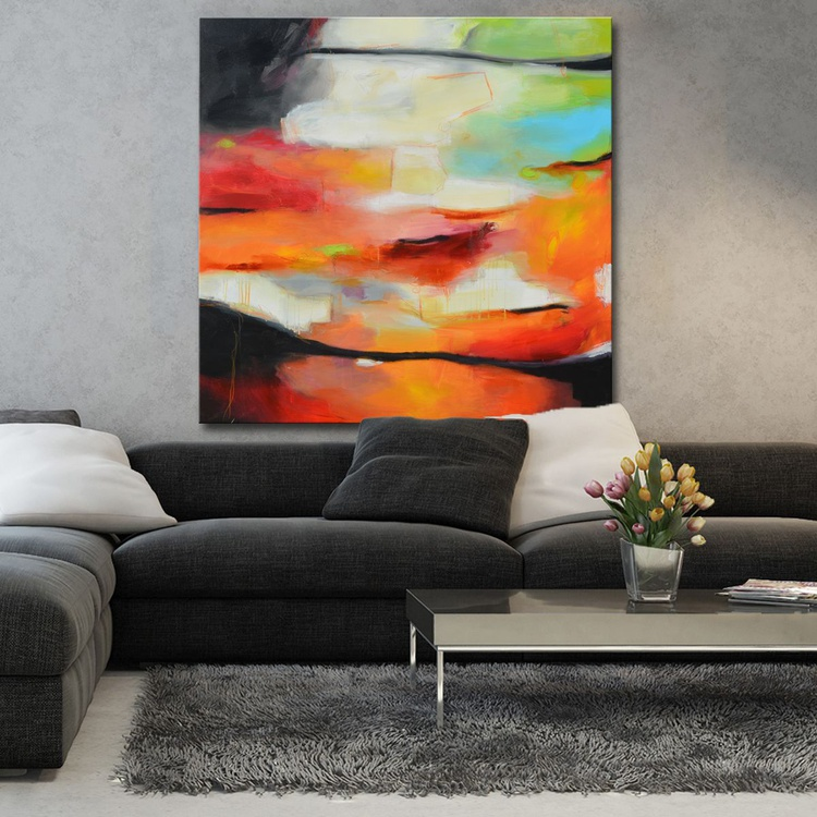 Eternal Moment - large abstract art ready to hang - Image 0