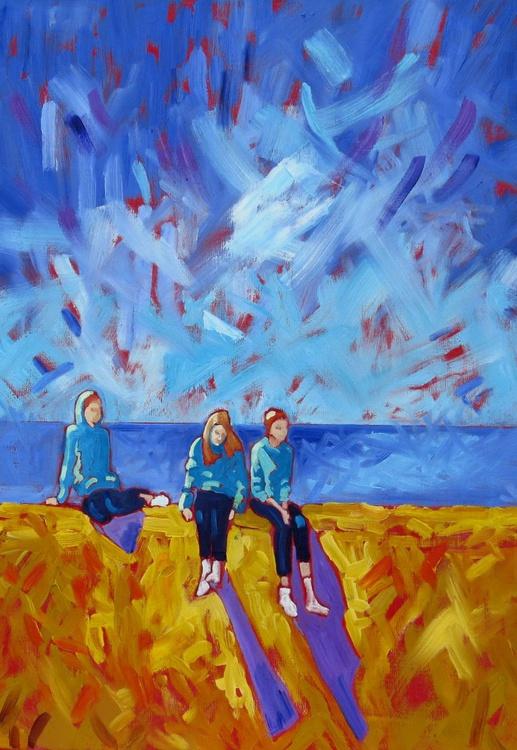 Three Figures on a Sea Wall - Image 0