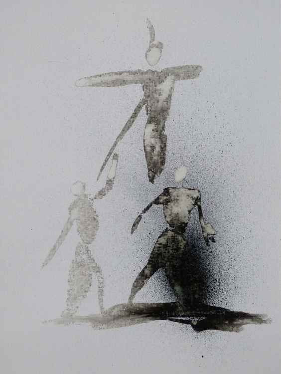Crucifixion 4, ink drawing 24x32 cm -