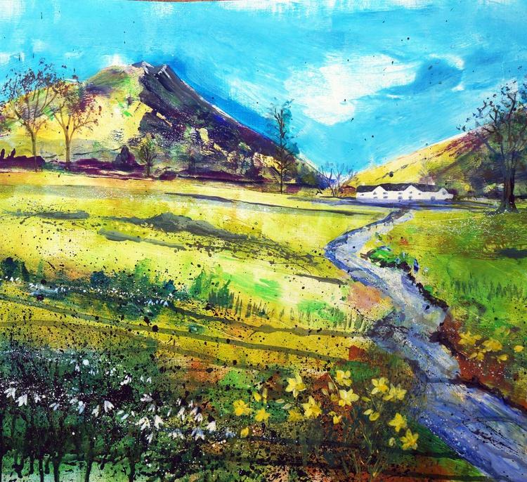Spring path to Allan Bank, NT, Grasmere, Lake District - Image 0
