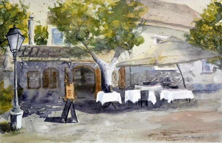 Bohemian from Skadarlija - original watercolor painting by Nenad Kojić - Image 0