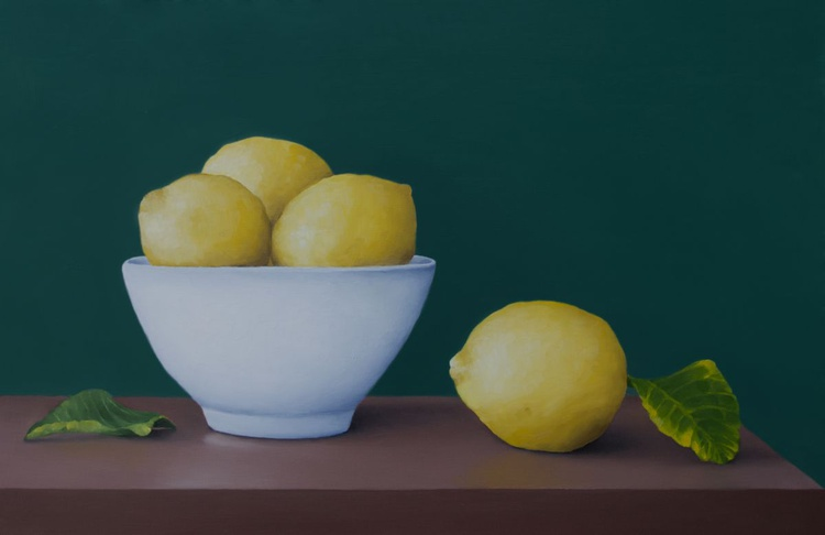 Still life with lemons and bowl - Image 0