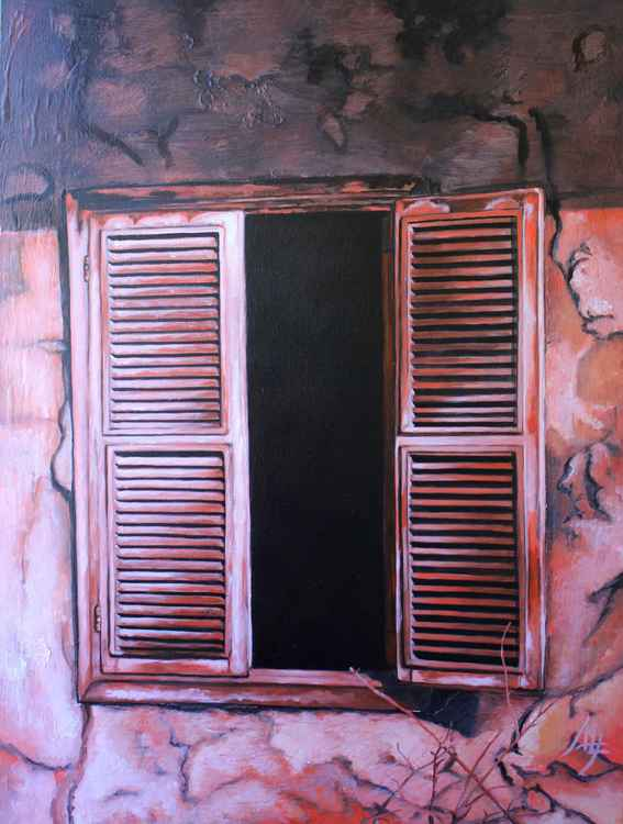 "IN QUESTO PRECISO MOMENTO (part of the ""Conza: ruins"" series of 7 paintings) -"