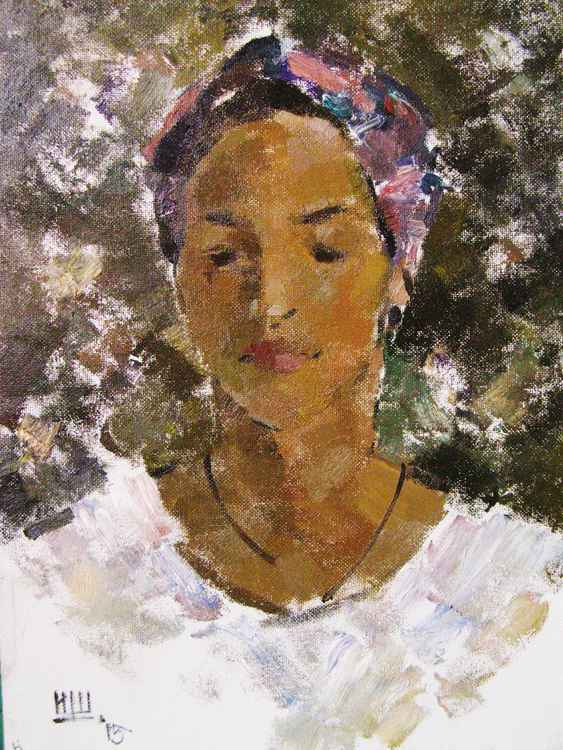 """The Portrait of Gayane Avetisyan"". Oil on carton. 62/47cm."