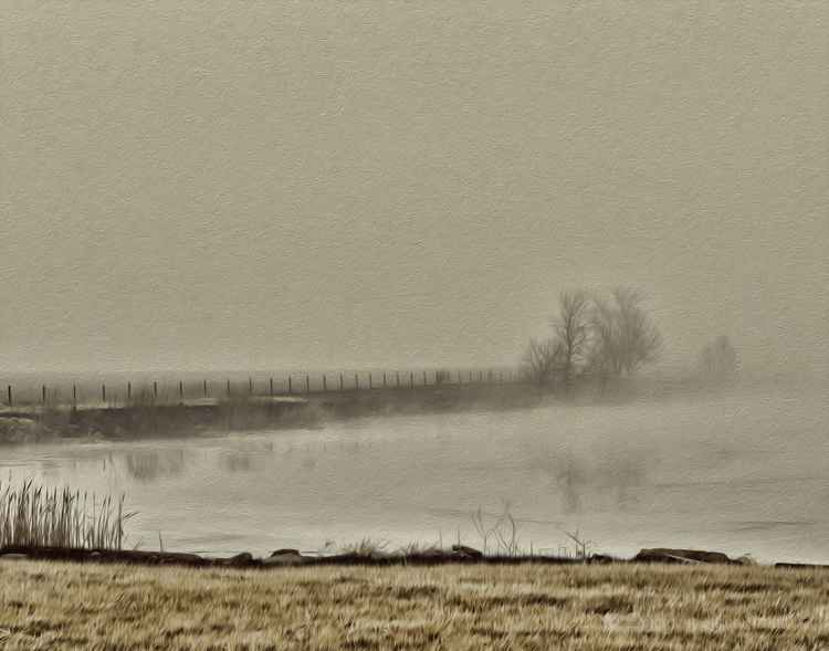 Across an Icy Prairie Pond