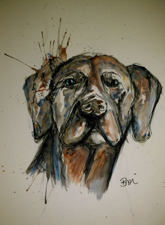 Weimaraner Dog Doodle Abstract Caricature - Image 0