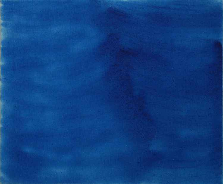 Blue, 2008, acrylic on canvas, 50 x 60 cm