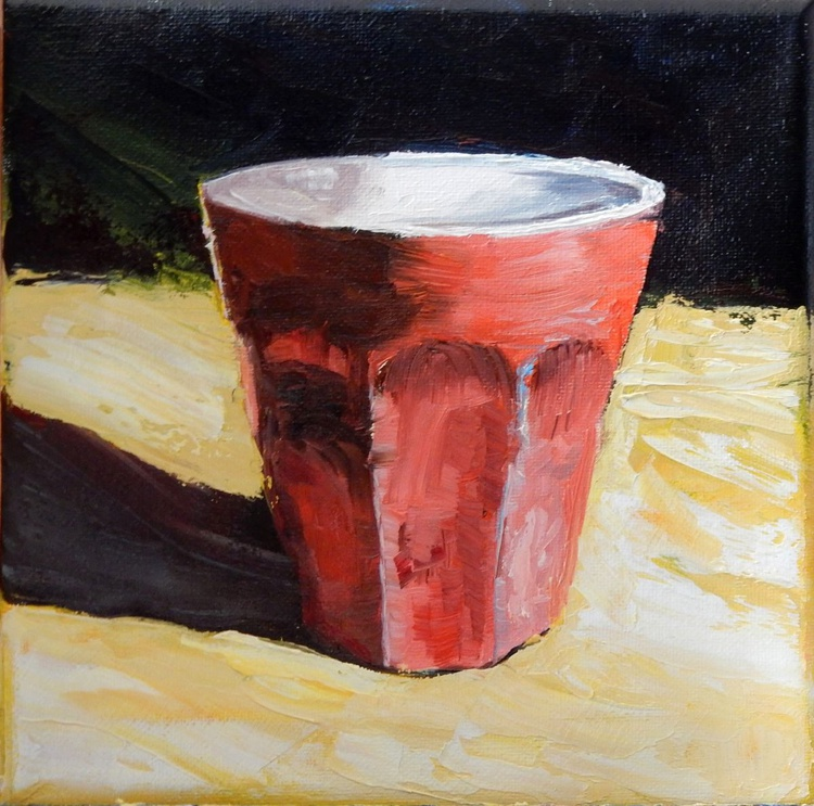 Red cup(3). still life - Image 0