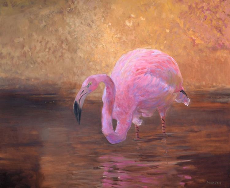 Flamingo, 110x90cm - Image 0