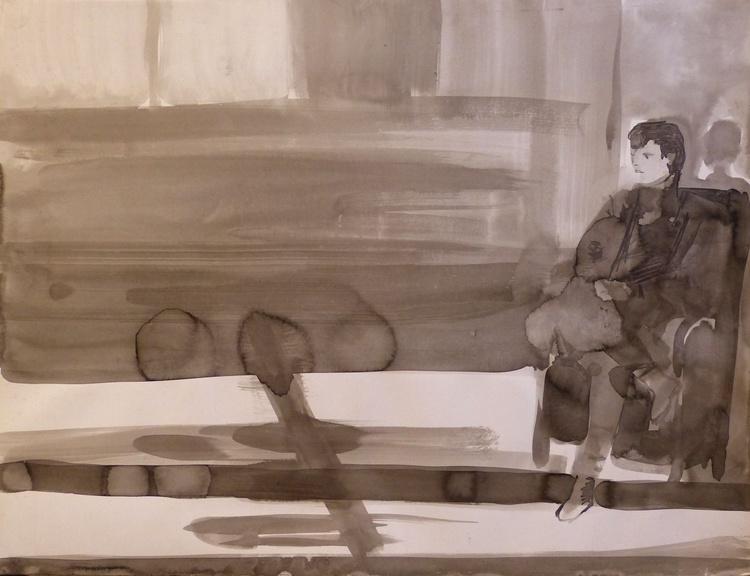 Portrait of the neighbour, Passage Charles-Albert, 64x50 cm - Image 0
