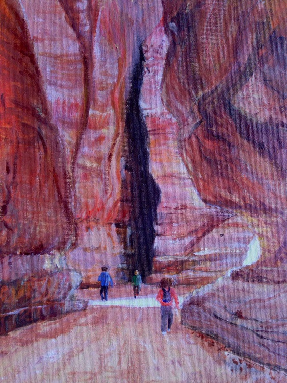 """""""ENTRANCE TO PETRA"""", 8 x 10inch - Image 0"""