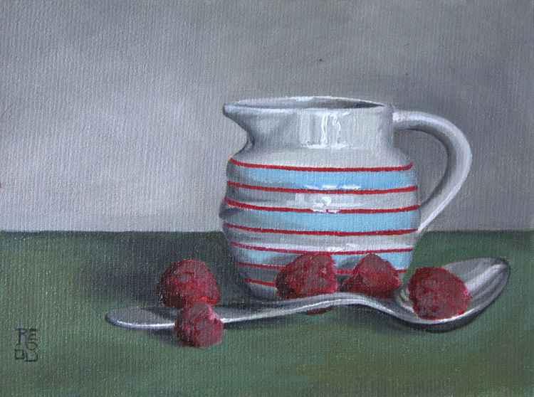 Raspberries and Milk Jug. -
