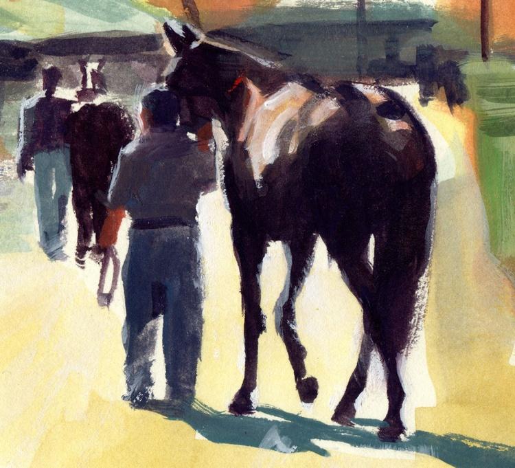 Heading Out, Keeneland Racetrack, Lexington, KY - Image 0