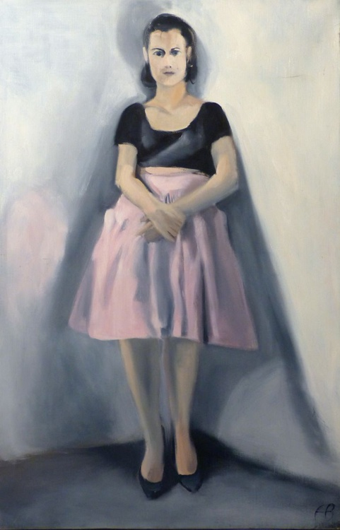 Composure, oil on canvas, 100x65 cm, ready to hang - Image 0