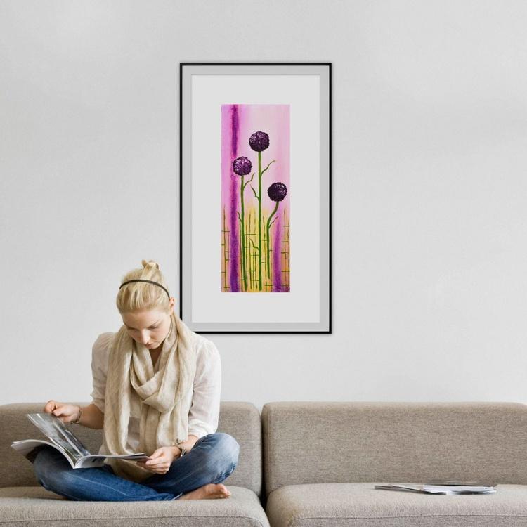Purple Flowers- Long Deep Edge Canvas Ready To Hang - Image 0