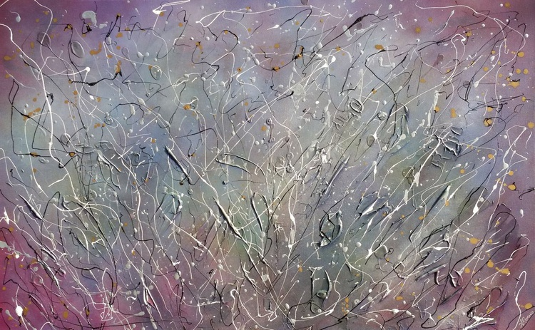 Ethereal Sky, Original Large Abstract Painting with Subtle Muted Palette - Image 0