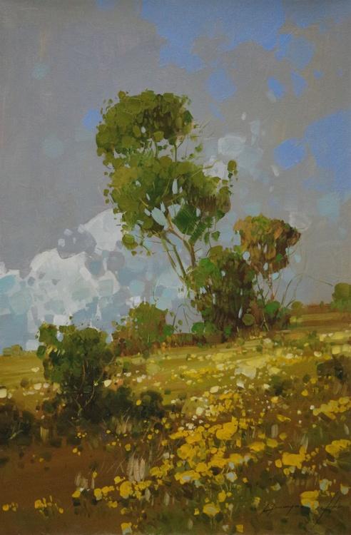 Sunrise Grove, Landscape Original oil painting  Handmade artwork One of a kind - Image 0
