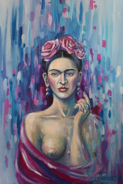 "Abstract figurative art ""Frida"" - Image 0"