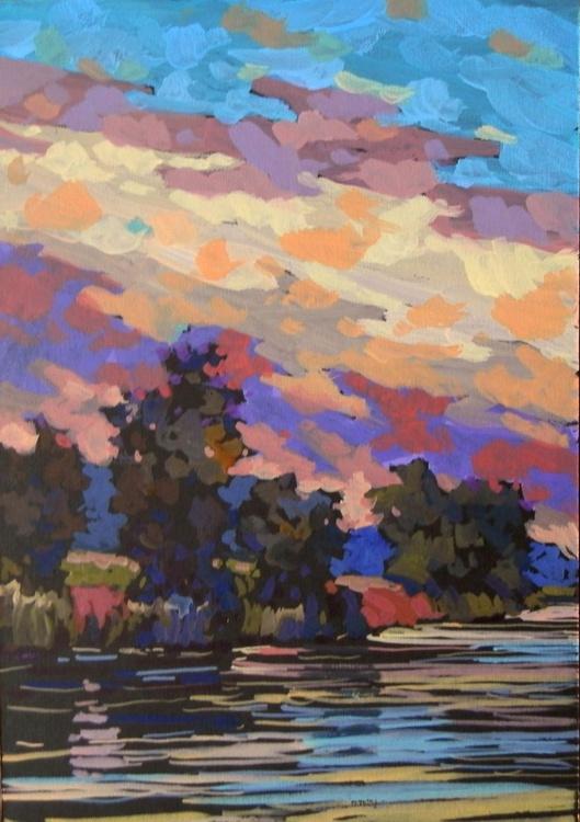 River. Original painting 30x21 cm - Image 0