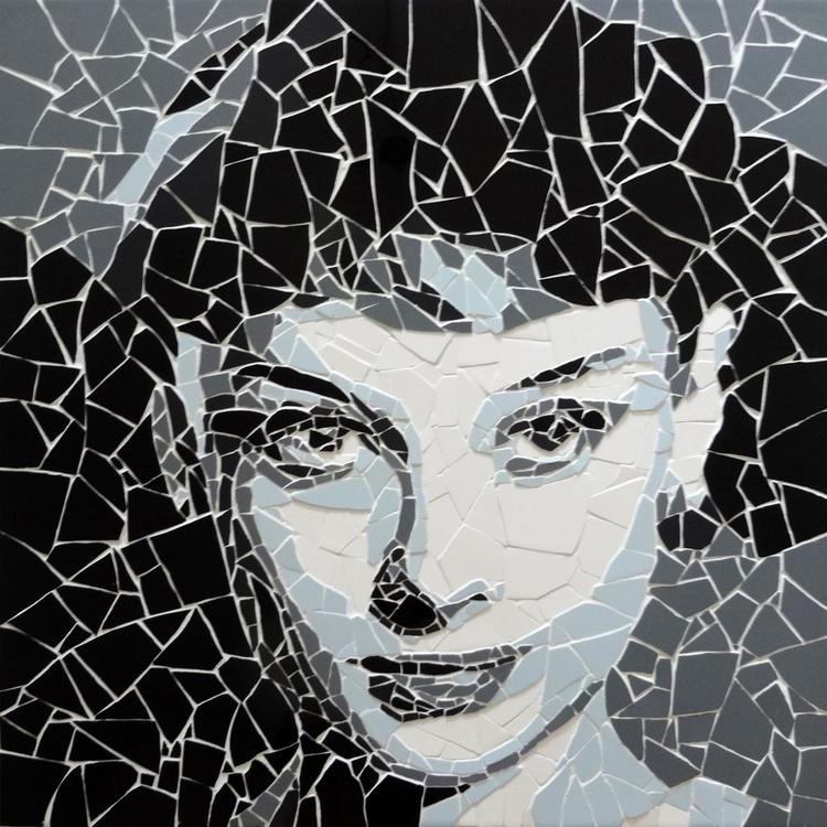Audrey Hepburn (Ceramic Tile Fragment Mosaic) - Image 0