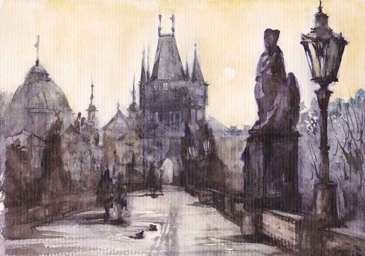 Prague/ Old Bridge /Early morning