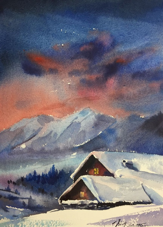 Snowy Cabin - Image 0
