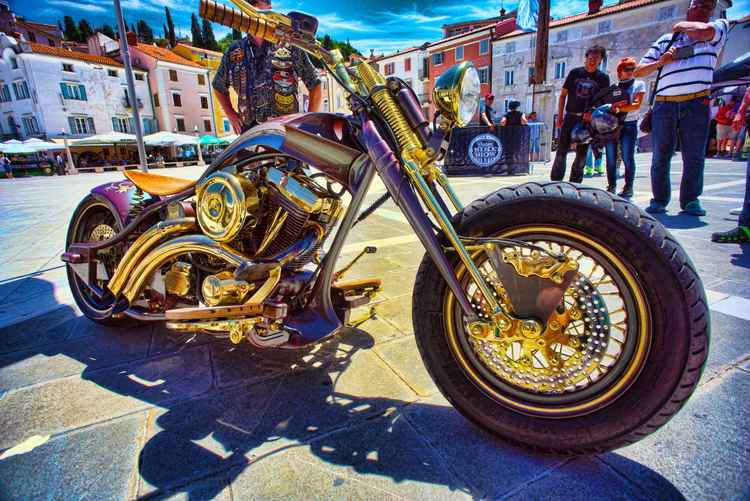 Winner of the 2016 Custom Harley show Portorose