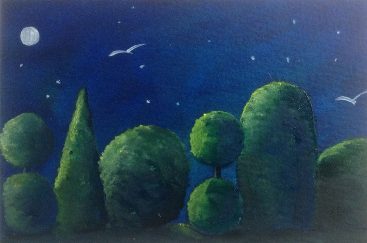 In the garden at midnight - Image 0