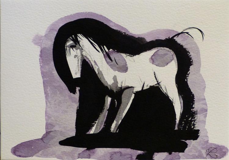 Horse 4, 21x15 cm - Image 0